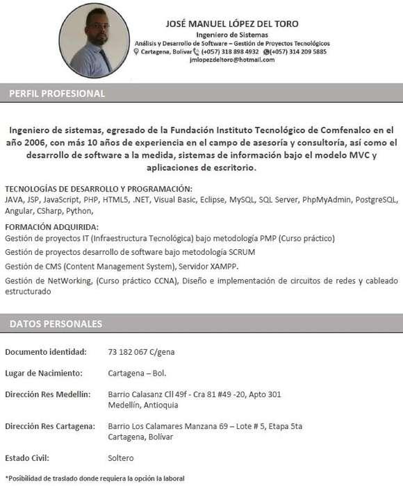 Ing. de Sistemas - Programador