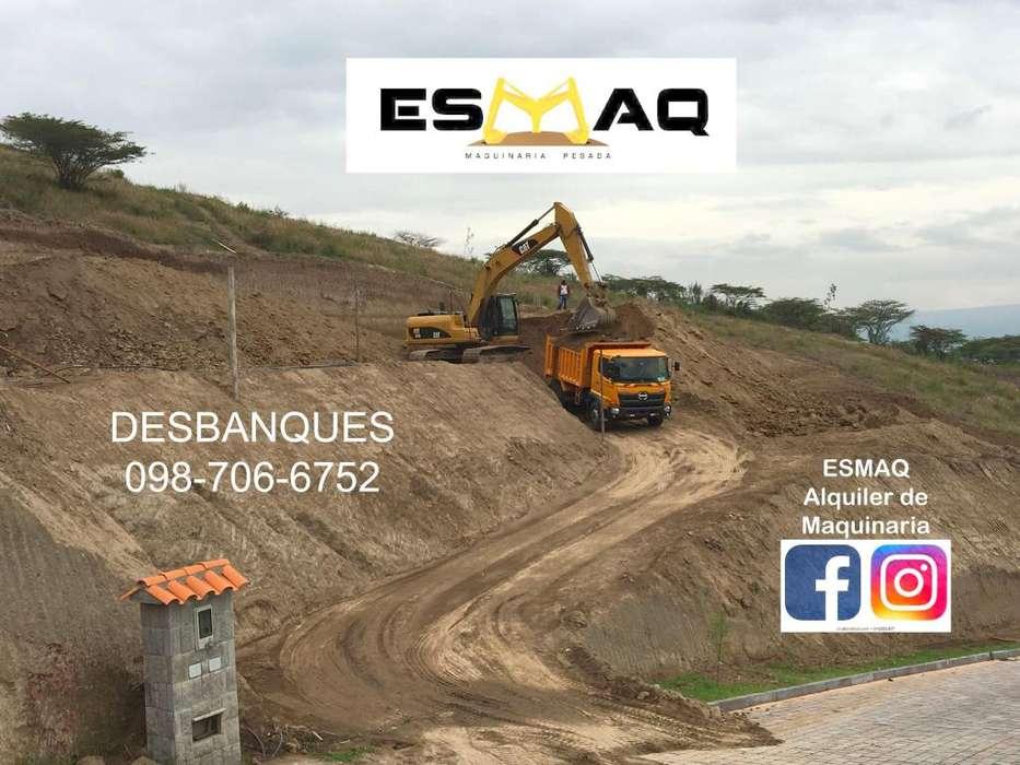 Desbanques, Movimientos de tierra, Alquiler de Maquinaria Pesada, Excavaciones