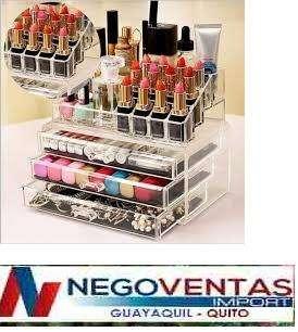 ORGANIZADOR DE <strong>cosmeticos</strong> MAQUILLAJES Y BISUTERIAS