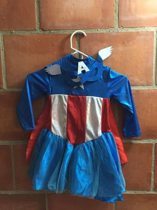 Disfraz Capitana Marvel Talla 3