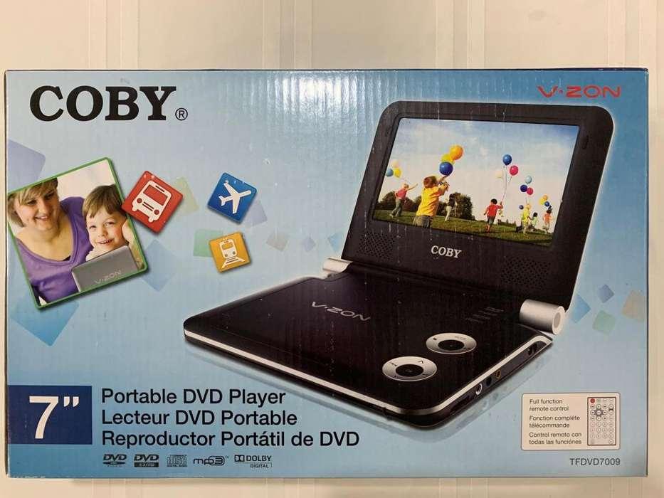 COBY reproductor de DVD portátil 7 pulgadas sin abrir