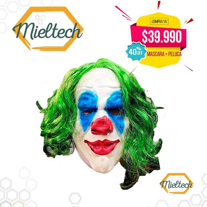 Mascara Guason Joker Payaso en latex 2019 Mas Peluca