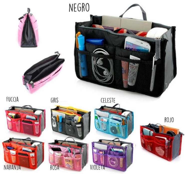 Organizador de <strong>cartera</strong> -Bolso 1 cartuchera p cosmeticos de regalo