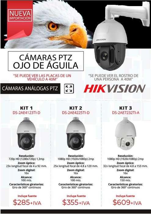 camaras ptz camara ojo de aguila ecu 911 zoom 100m hd Hikvision largo alcance analogoas e ip camaras de seguridad