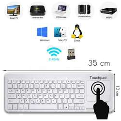 Teclado Mouse Touch Wireless Bluetooth Pc Smart Tv Android