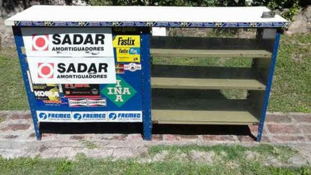 Mostrador Frente Chapa Y Vidrio