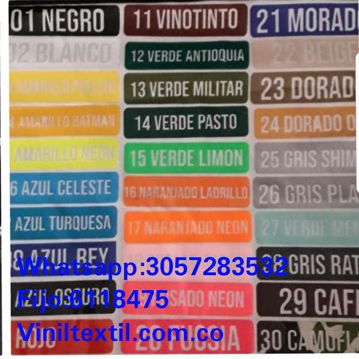 Vinilo Termoadherble Textil Nacional