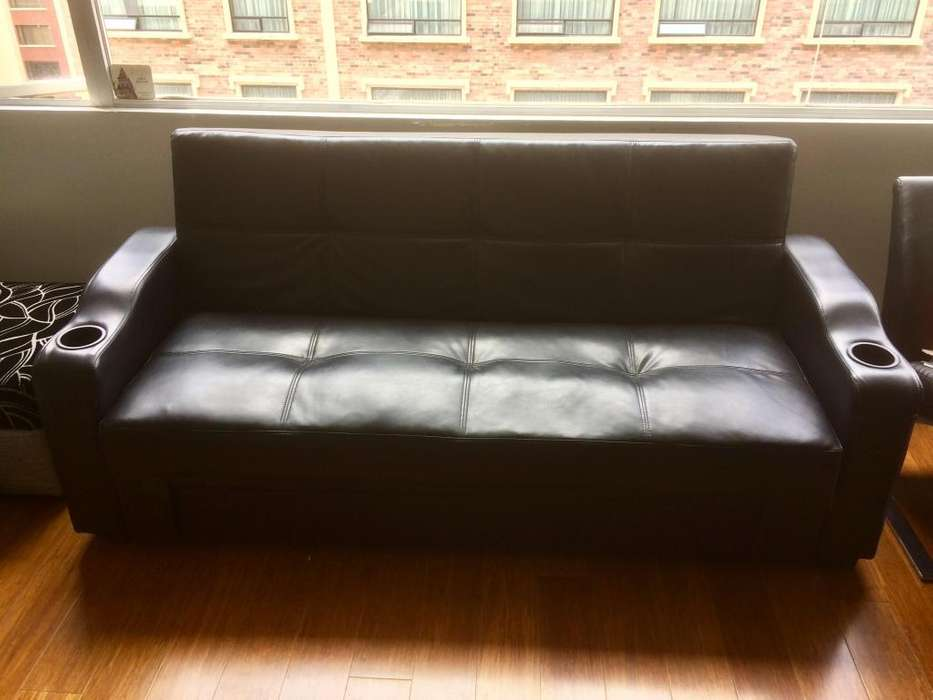 Sofa Cama/baúl Color Negro