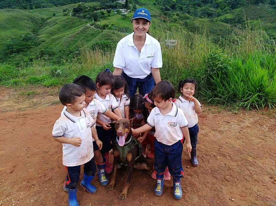 Doberman hembra con obediencia basica excelente con niños y animales