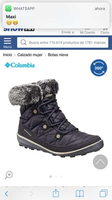 Botas nieve Columbia 36 <strong>mujer</strong> c nuevas en caja