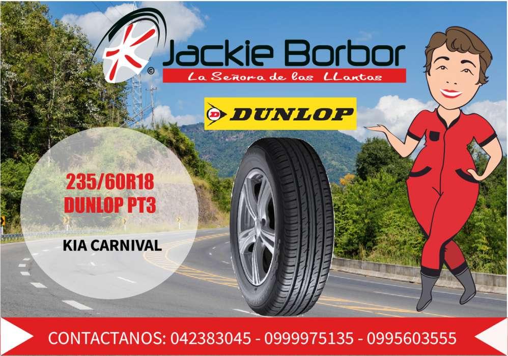 Llanta 235-60 R18 DUNLOP kia carnival ford edge honda CRV hyundai santa fe mazda cx7 audi Q5 Q7