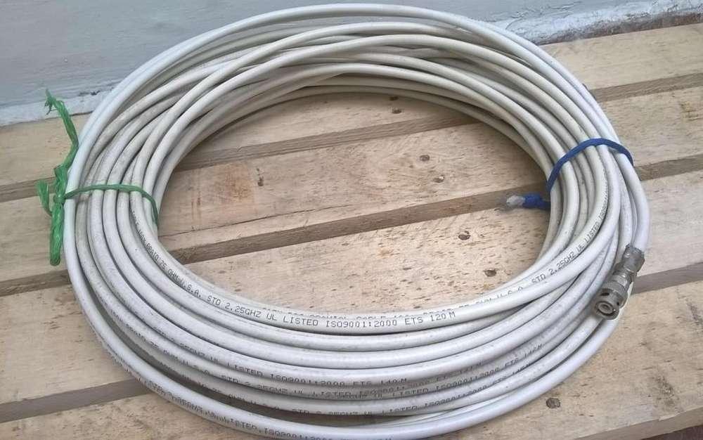 Extensión Cable Coaxial RG6 Pantalla 100 USA x 30 metros
