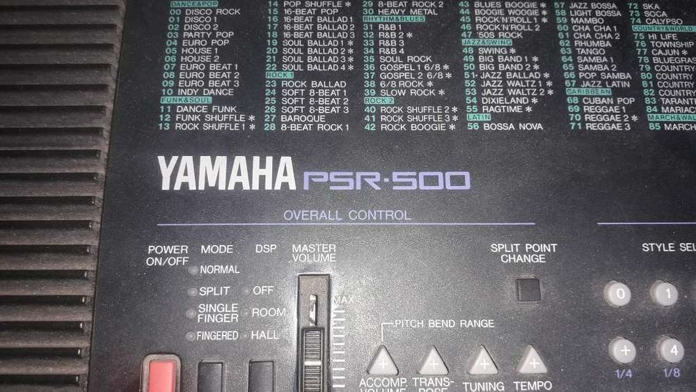 Teclado Yamaha Psr500