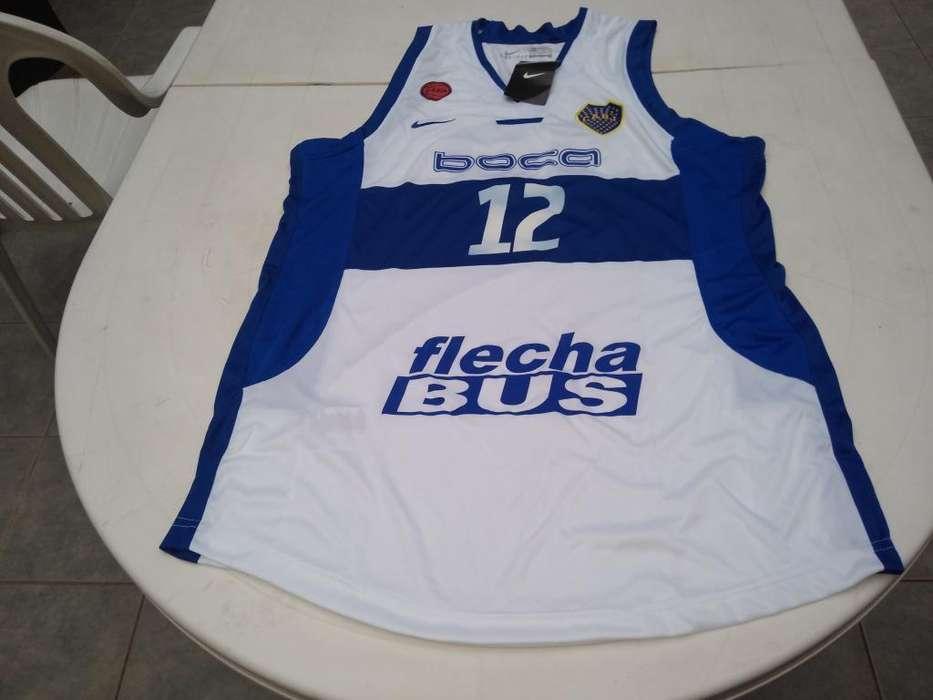 Musculosa Basket Boca Juniors Talle S