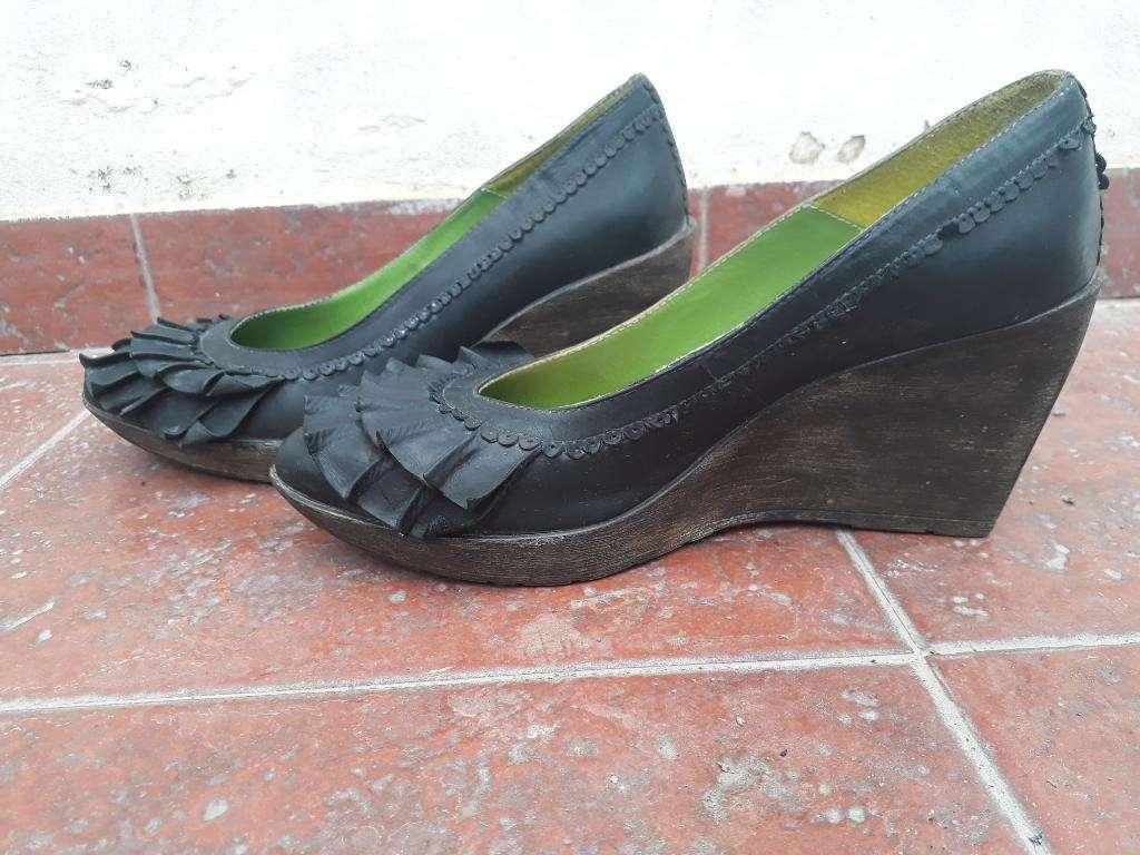 Zapatos Carina de La Cruz Negros N 40