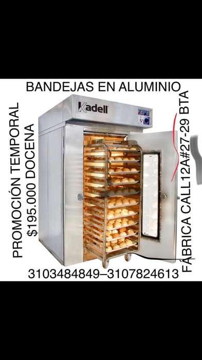 Equipo de Panaderia,Bandejas en Aluminio