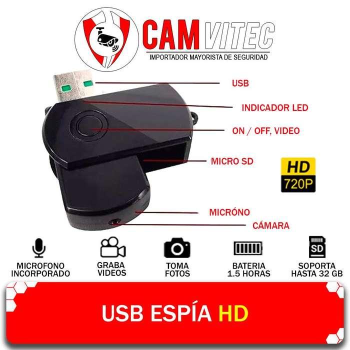 Usb Pendrive Camara Espia Hd 720p Audio Video Oculto 32gb