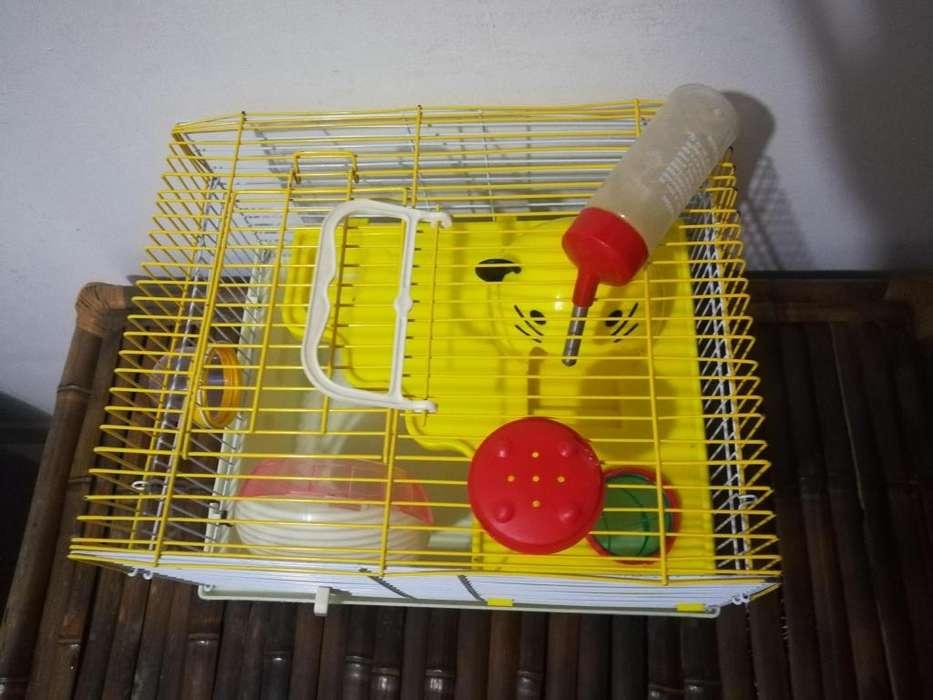 GANGA!!! Hermosa jaula para hamster, de 2 pisos con accesorios