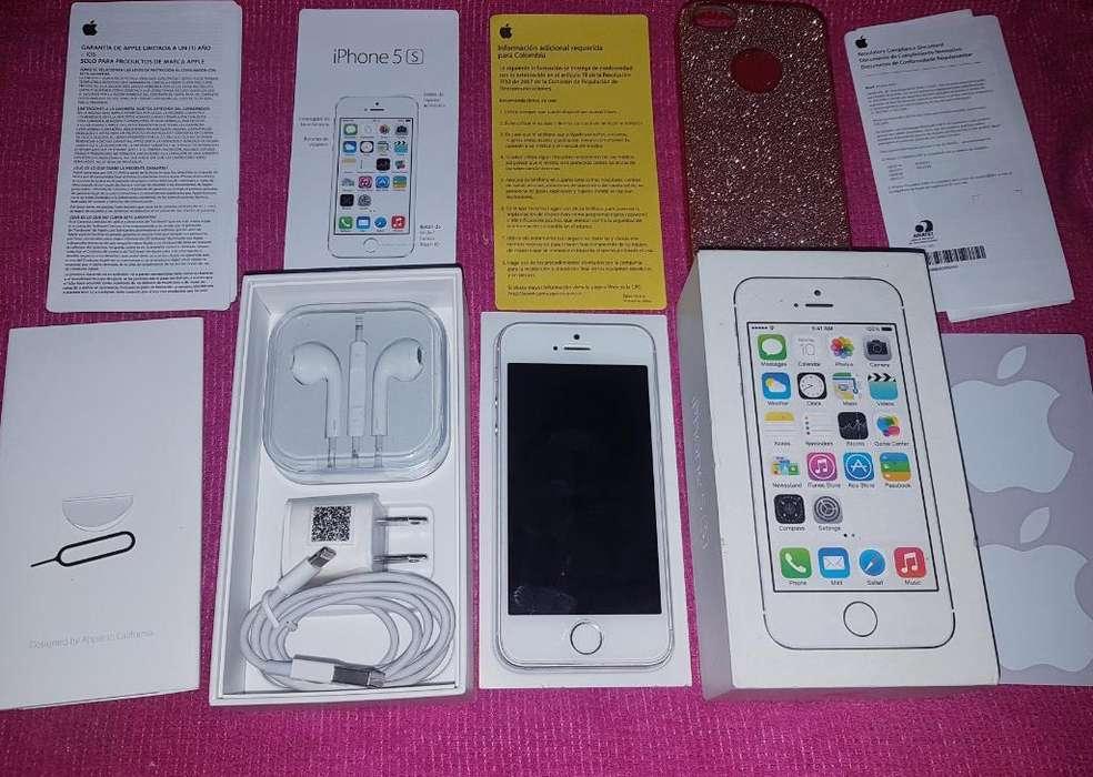iPhone 5s Silver 16gb 4g Vendo O Cambio