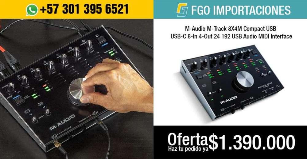 M-Audio M-Track 8X4M Compact USB / USB-C 8-In/4-Out OFERTA 1.390.000 SOLO POR PEDIDO