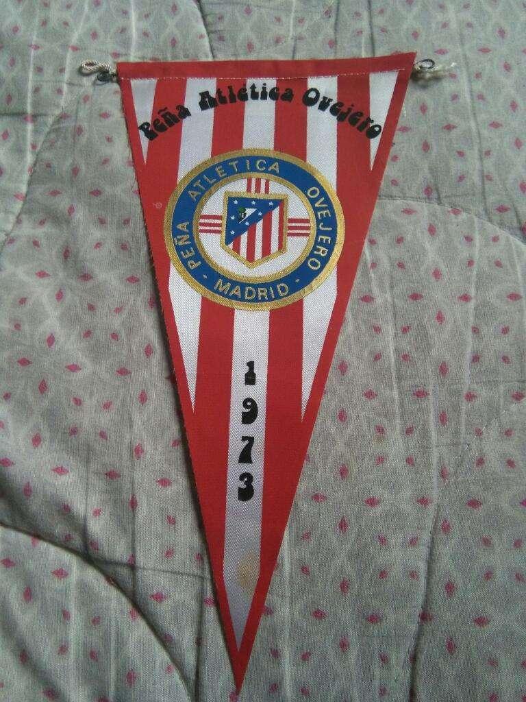 Antiguo Banderín Atlético Madrid 1973 Peña Atletica Ovejero