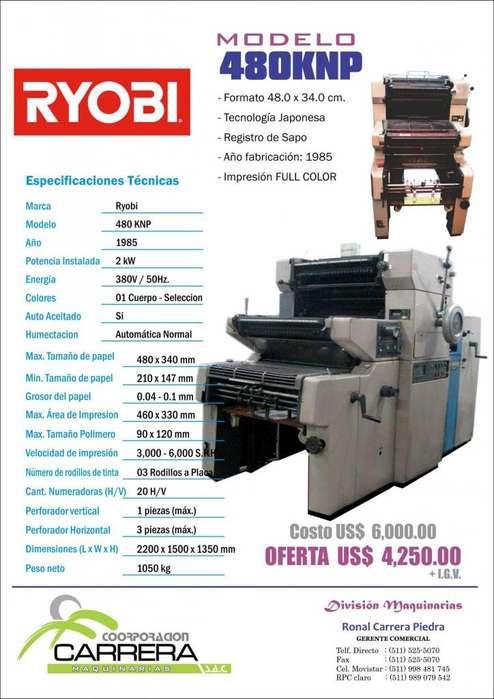 Offset, Formato Continuo, Guillotina. GRAN OFERTA Maquina Imprenta IMPORTADA, T.5255070 C.989079542