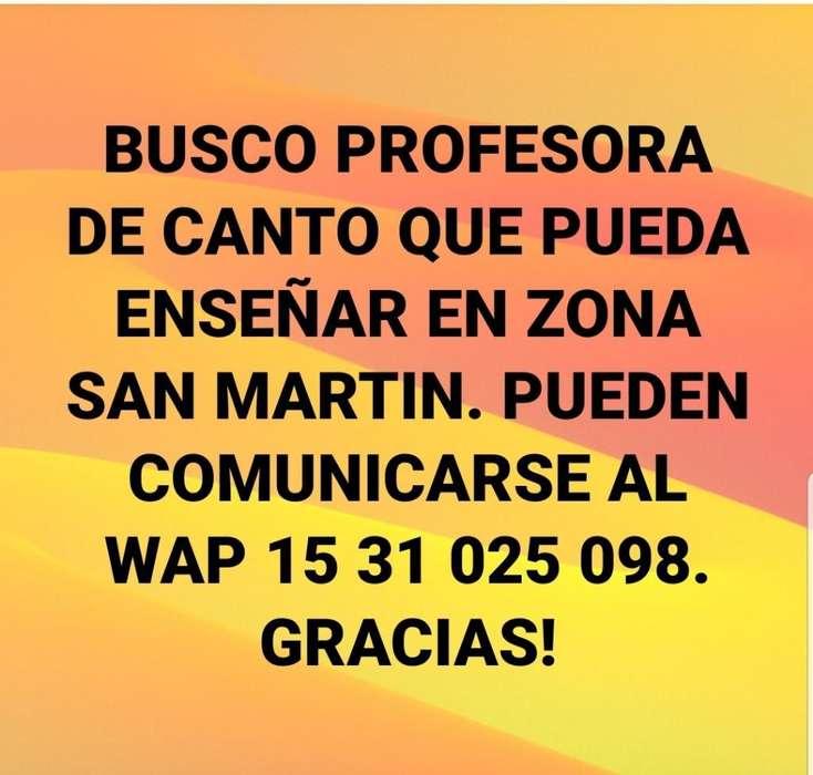 Busco Profesora de Canto San Martin