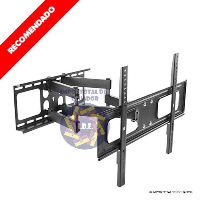 Soporte de pared brazo doble ''nuevo'' tv plana o curved de 37 a 80 pulgadas / Soporta hasta 110 libras