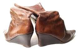 Botas de cuero punta fina