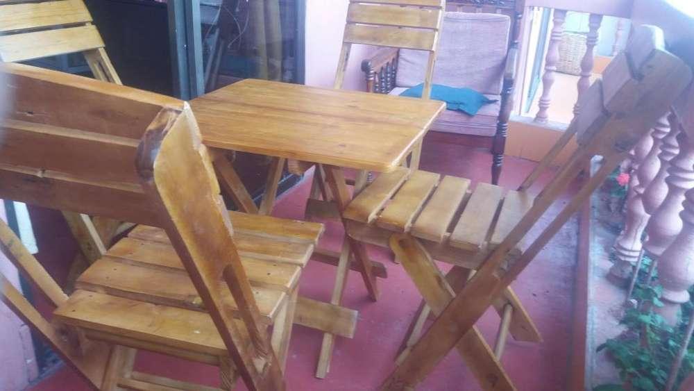Ago todo tipo de madera sillas mesas armable como para llevar a playa