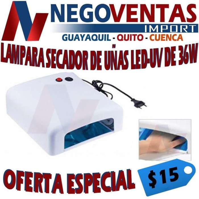 LÁMPARA SECADOR DE UÑAS LED - UV DE 36 W