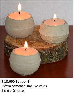 Recordatorios candelabro Esfera cemento