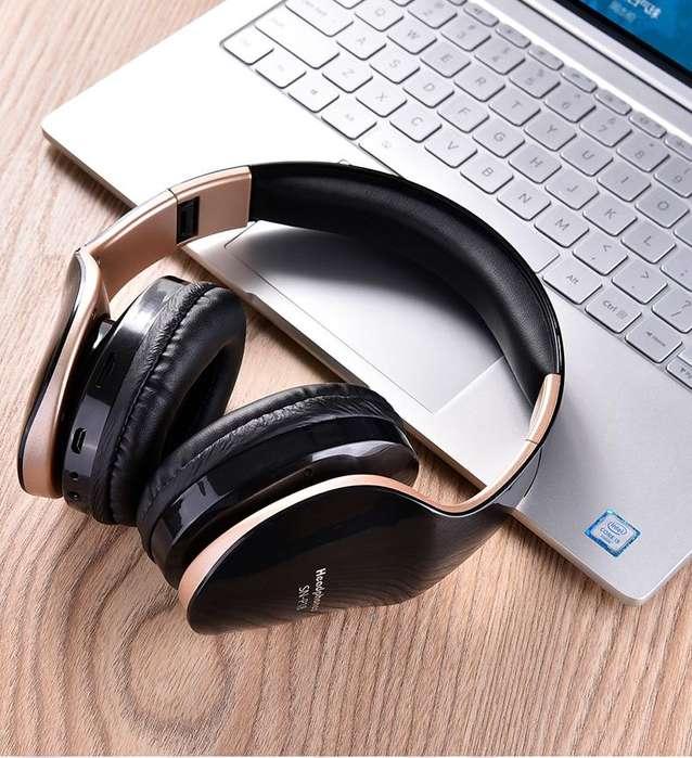 Nuevos Auriculares inalambricos bluetooth plegables, escucha musica, videos, llamadas con calidad gama alta