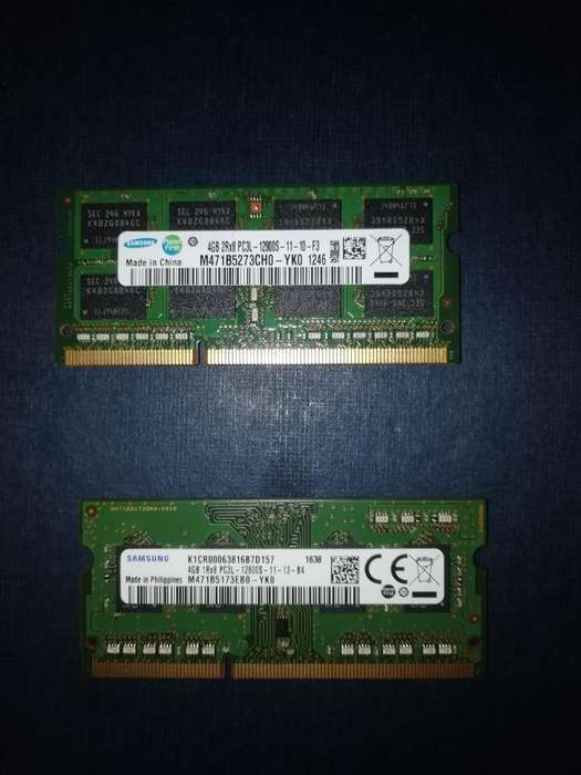 Dos Ram Ddr3 4gb a 30 Las Dos