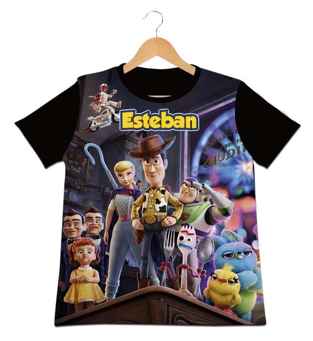 camiseta para niños toy Story 4 Personalizadas