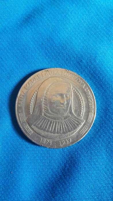 Moneda Santa Madre Laura Montoya