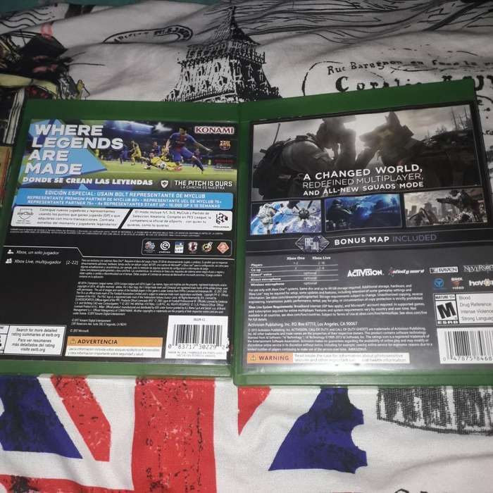Vendo O Cambio Pes 18 Y Call Of Duty