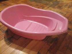 Bañera de bebe color rosa