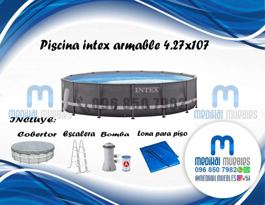 PISCINA REDONDA ARMABLE INTEX 4.27X1.07
