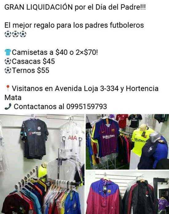 Remate Total de Camisetas, Casacas? Etc.