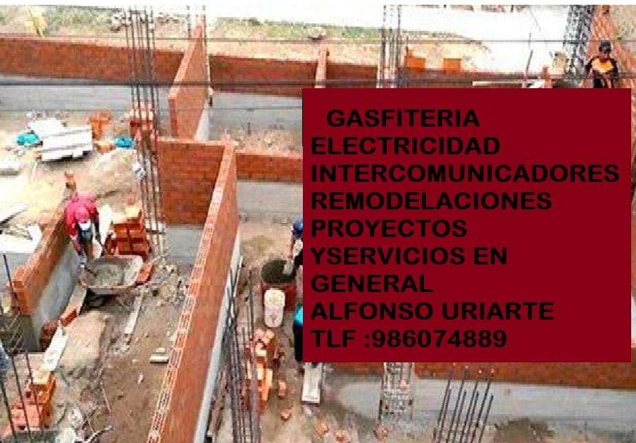 GASFITERIA ELECTRICIDAD PROYECTOS DE CONSTRUCCIÓN PRESUPUESTO SIN COMPROMISO 986074889
