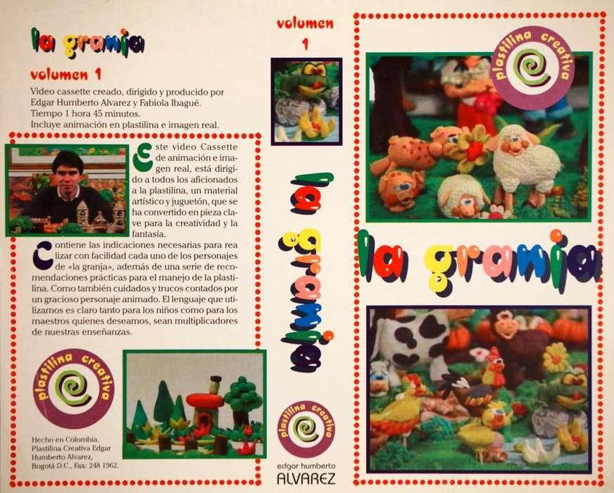 Video en VHS para Niños Jóvenes Maestros Haga TODOS los animales, plantas y personajes de La Granja en PLASTILINA.