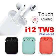 Auriculares Bluetooth 5.0 I12 Tws