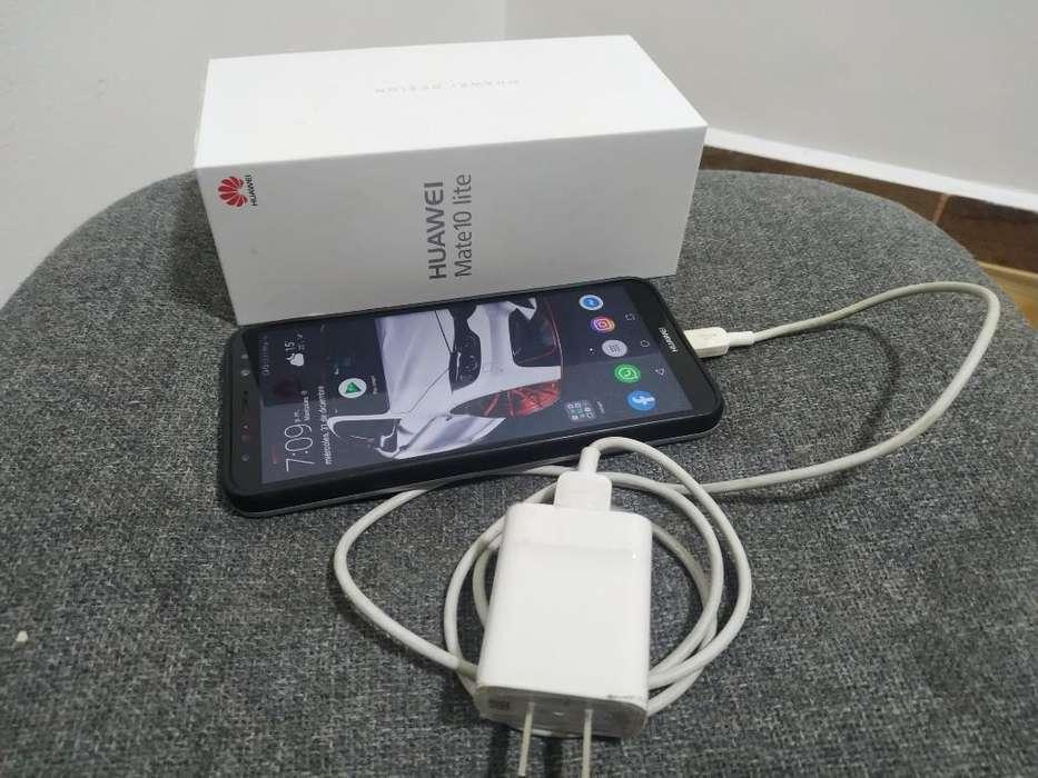 Huawei Mate 10 Lite Caja Crgador Y Funda