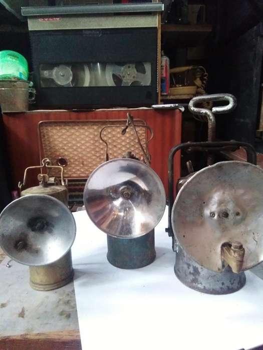 Antiguas Lámparas de Minero a Carburo