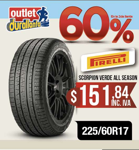 <strong>llanta</strong>S 225/60R17 PIRELLI SCORPION VERDE ALL SEASON XL TUCSON NEW SPORTAGE GT