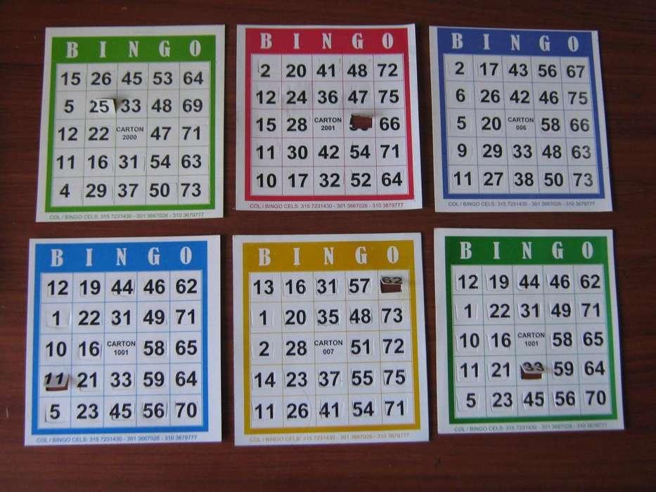 Cartones para bingo desechables