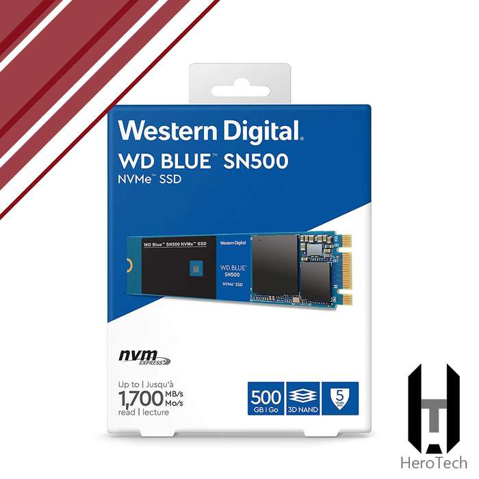 M.2 NVMe 500GB 1700 MB/s WD Blue 3D NAND SSD disco duro solido 480GB