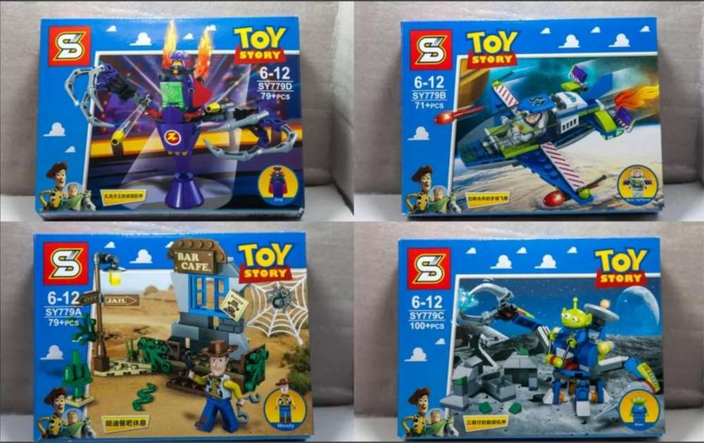 Lego Disney Pixar Bloque Toy Story Mini Figura <strong>juguetes</strong> Armables SY 779