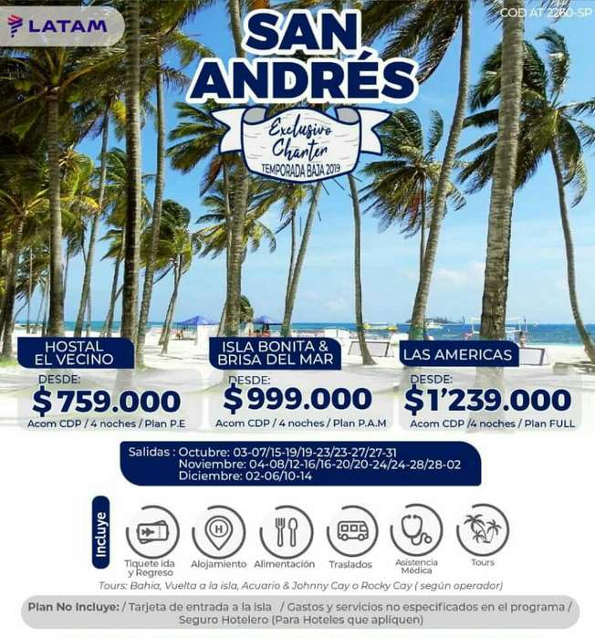 Vuelos Charter a San Andres